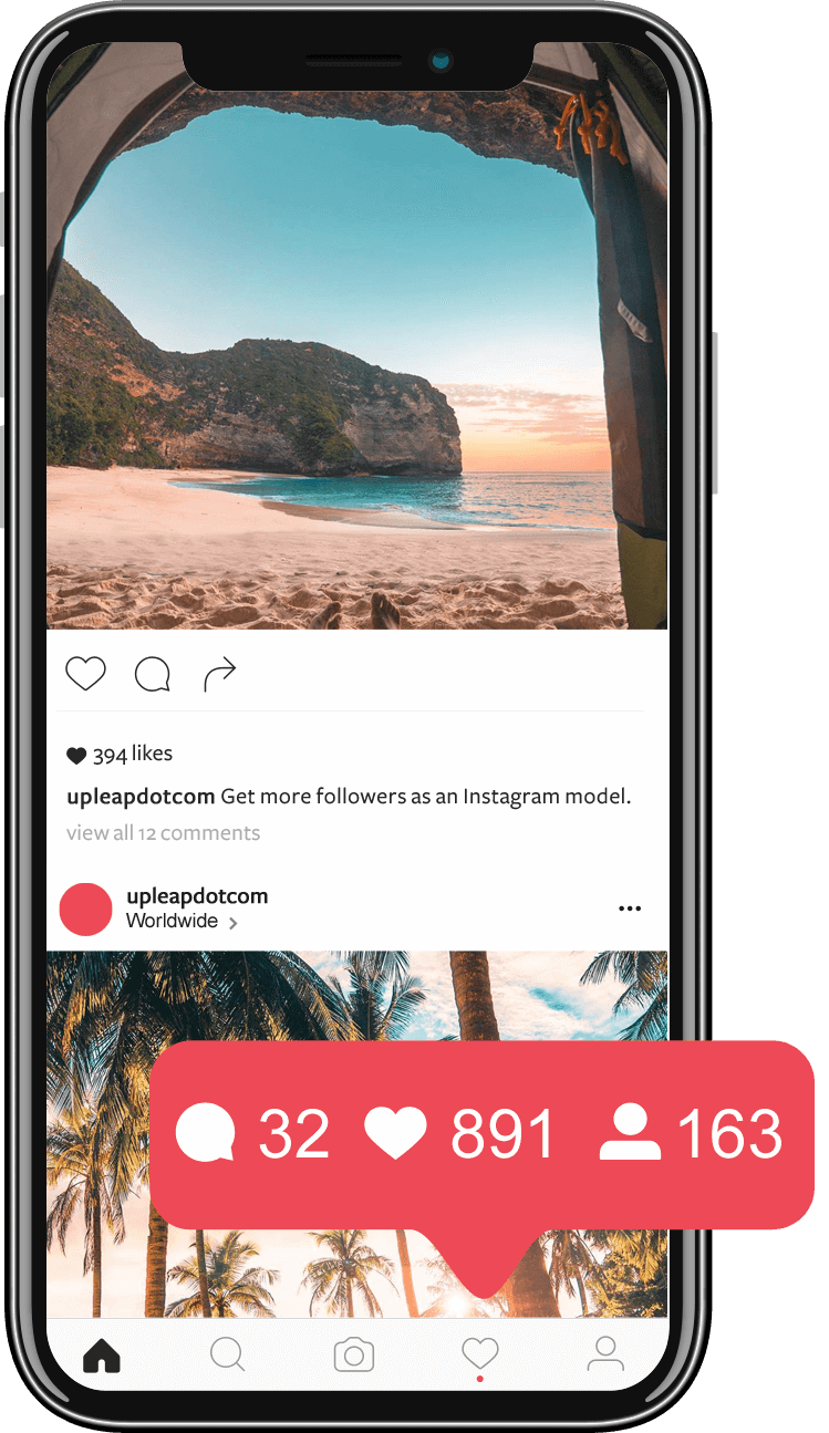 best instagram travel account inside a phone